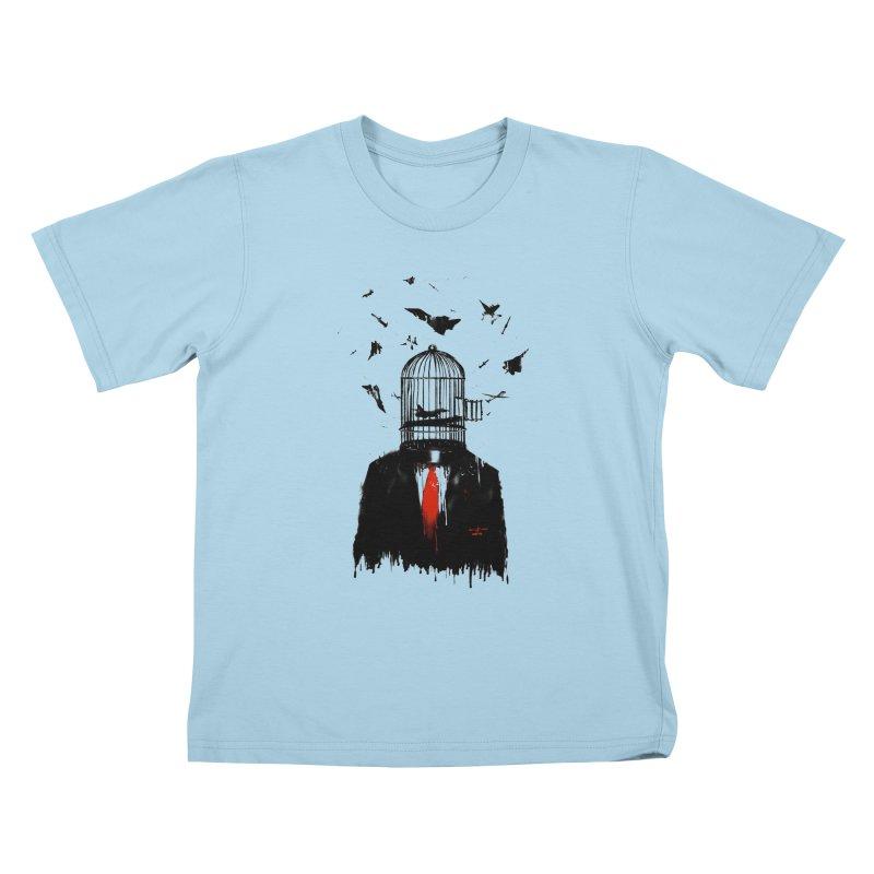 Free Birds Kids T-Shirt by nicebleed
