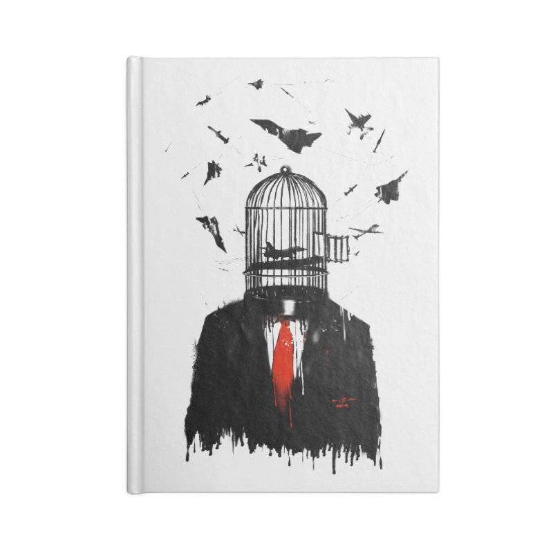 Free Birds Accessories Lined Journal Notebook by nicebleed