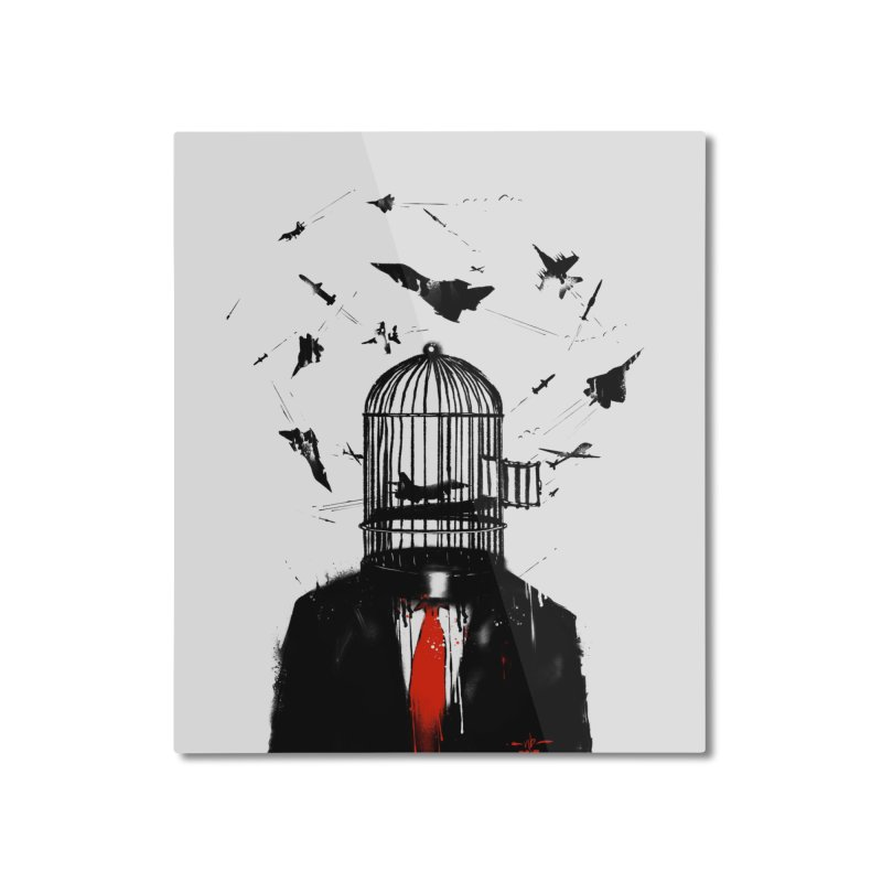 Free Birds Home Mounted Aluminum Print by nicebleed