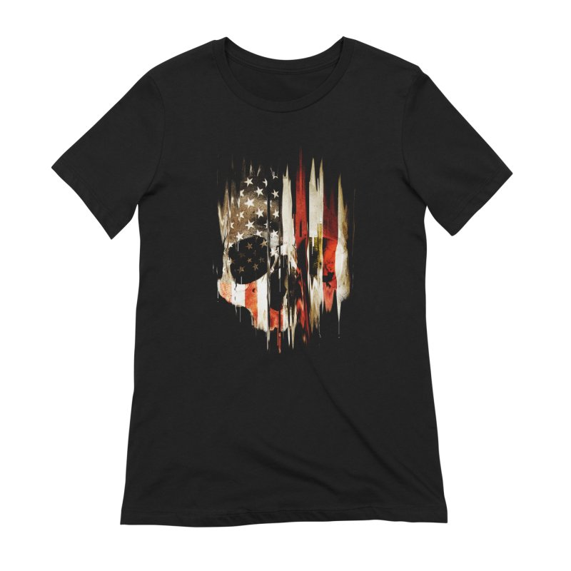 American Skull Women's Extra Soft T-Shirt by nicebleed