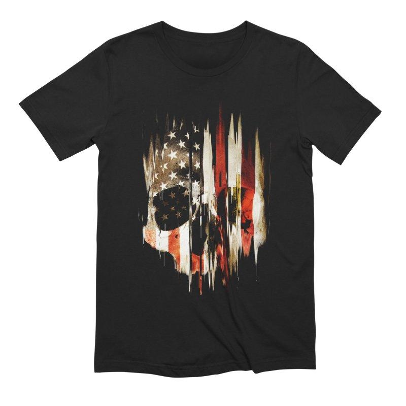 American Skull in Men's Extra Soft T-Shirt Black by nicebleed