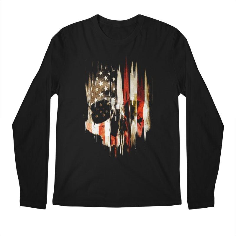 American Skull Men's Regular Longsleeve T-Shirt by nicebleed