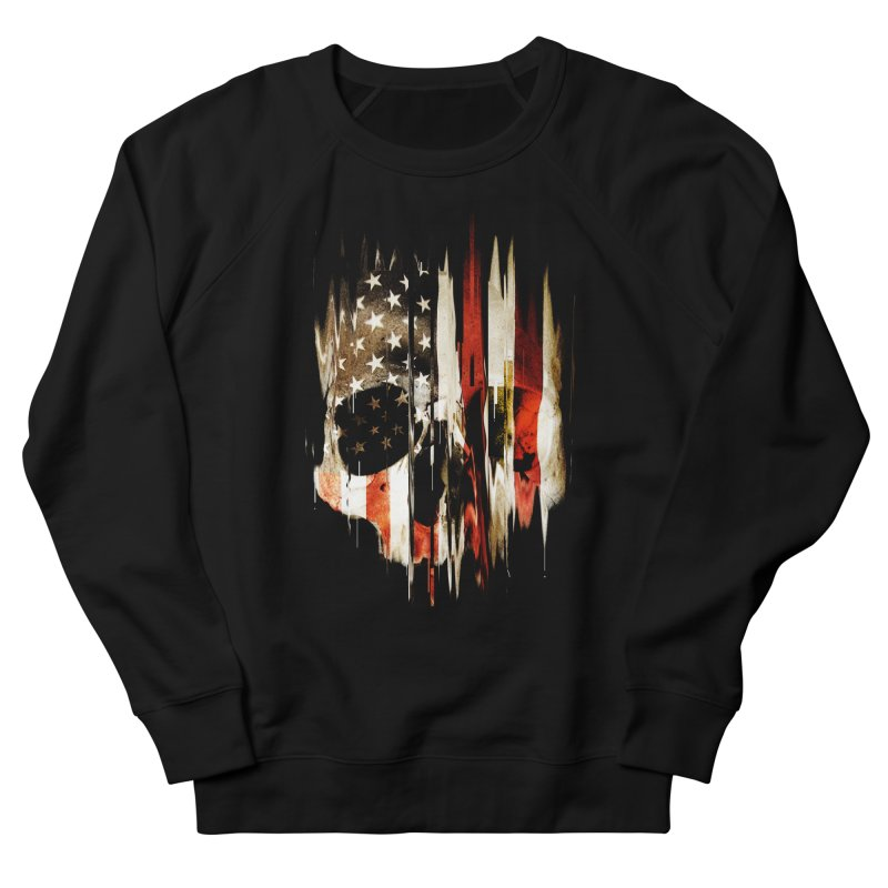 American Skull Women's French Terry Sweatshirt by nicebleed