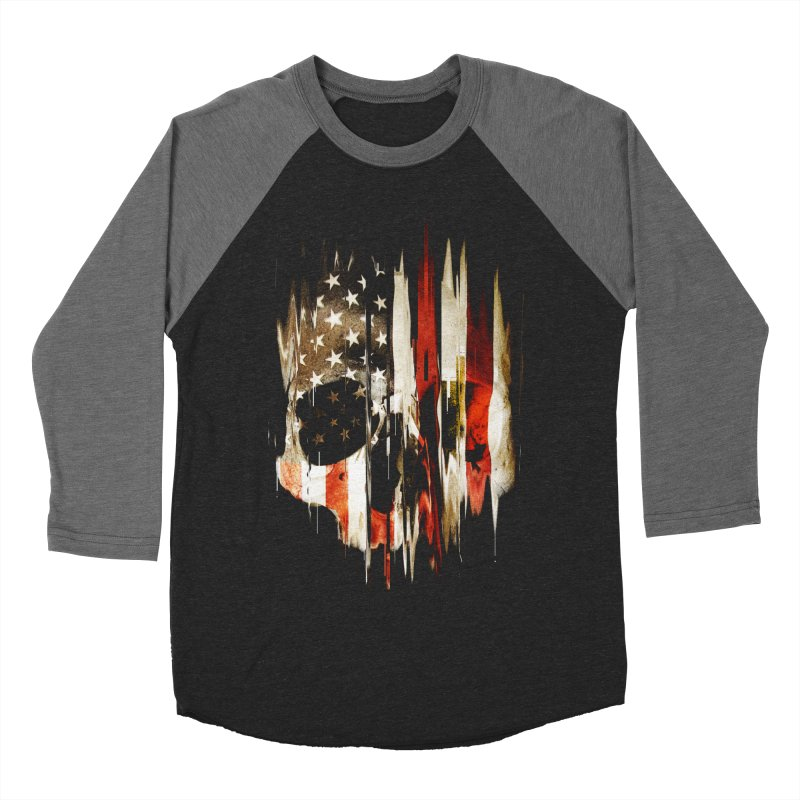 American Skull Women's Baseball Triblend Longsleeve T-Shirt by nicebleed