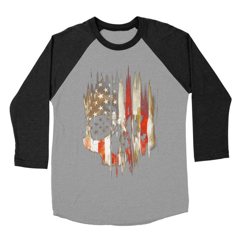 American Skull Men's Baseball Triblend Longsleeve T-Shirt by nicebleed