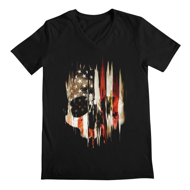 American Skull Men's Regular V-Neck by nicebleed