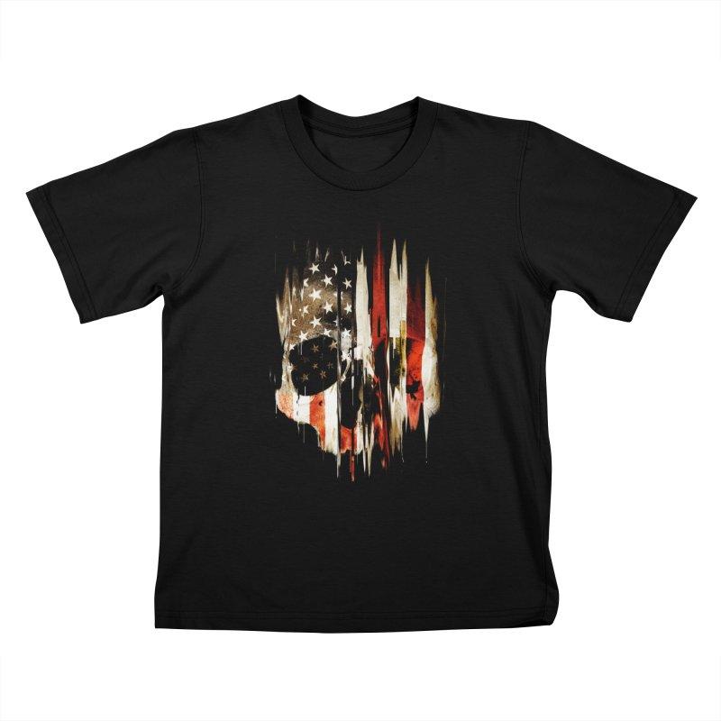 American Skull Kids T-Shirt by nicebleed