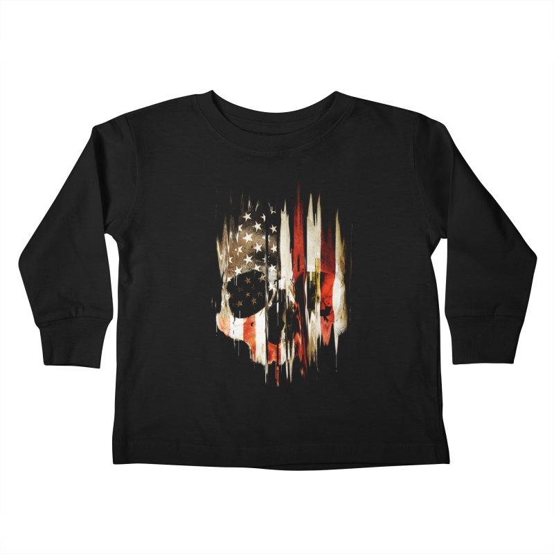 American Skull Kids Toddler Longsleeve T-Shirt by nicebleed