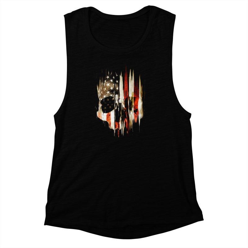 American Skull Women's Muscle Tank by nicebleed