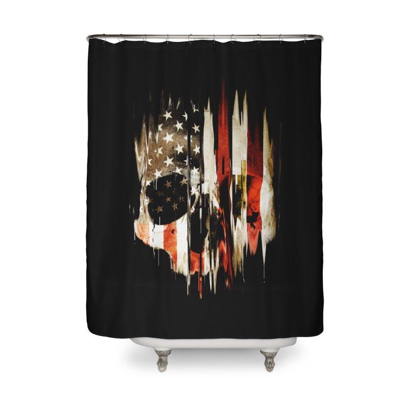 American Skull Home Shower Curtain by nicebleed