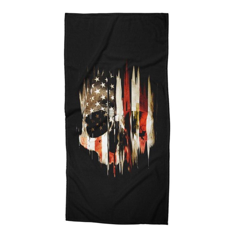 American Skull Accessories Beach Towel by nicebleed