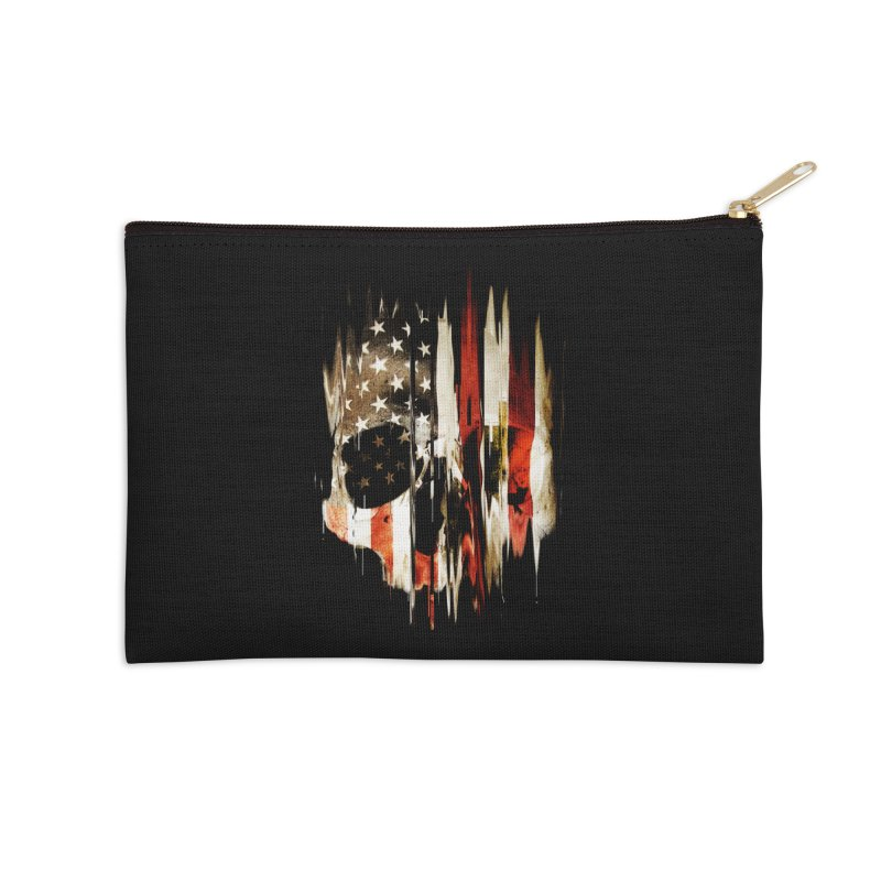 American Skull Accessories Zip Pouch by nicebleed