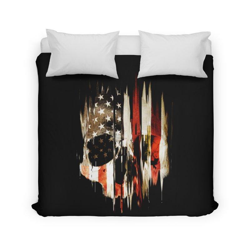 American Skull Home Duvet by nicebleed