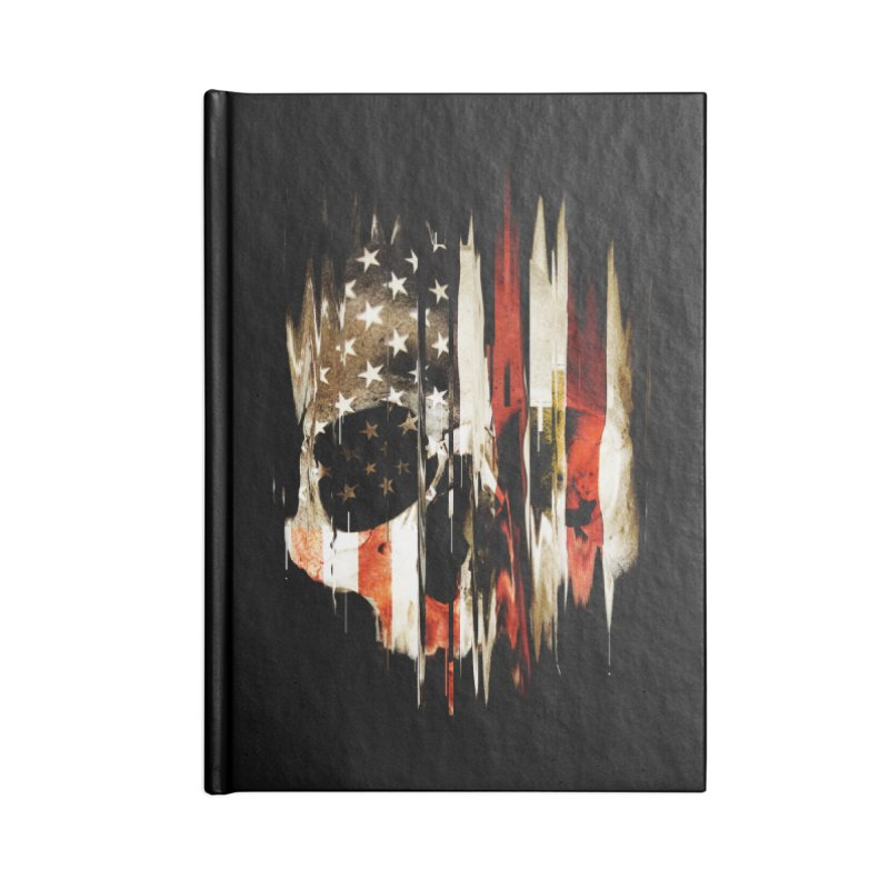 American Skull Accessories Lined Journal Notebook by nicebleed