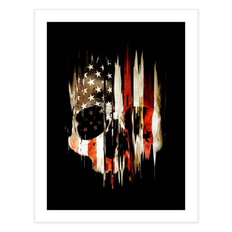 American Skull Home Fine Art Print by nicebleed
