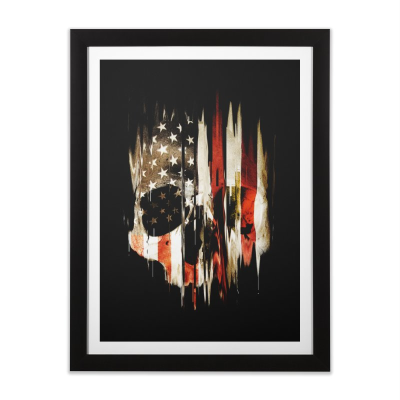 American Skull Home Framed Fine Art Print by nicebleed