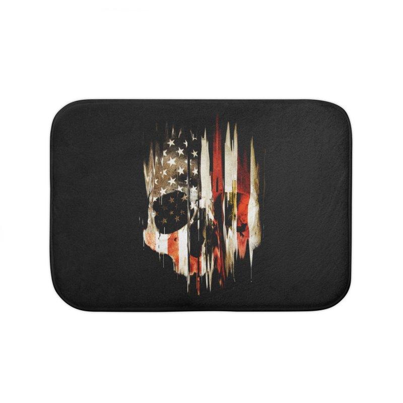 American Skull Home Bath Mat by nicebleed