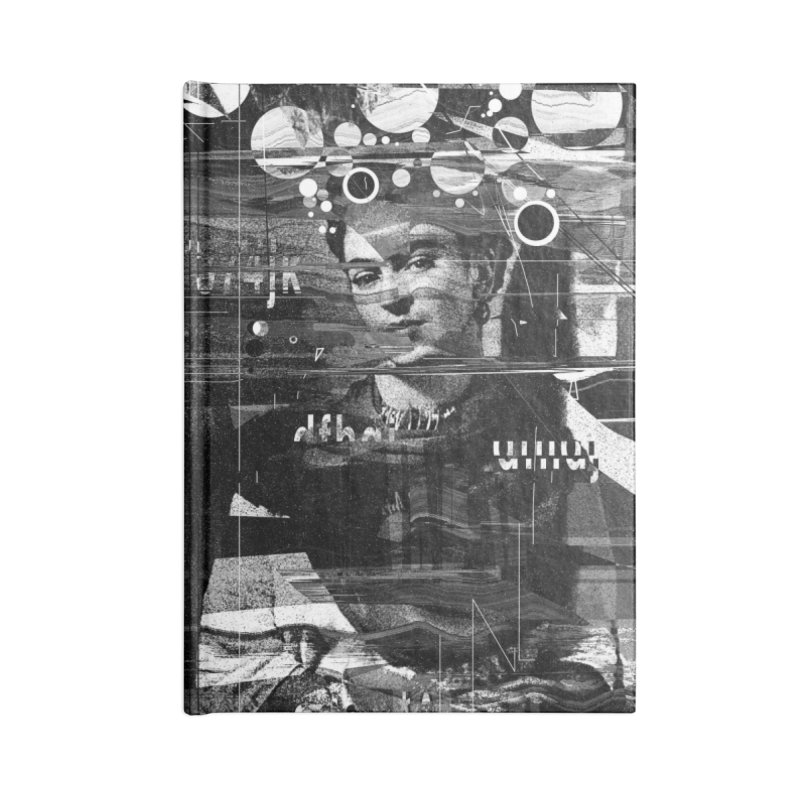 Frida Accessories Blank Journal Notebook by nicebleed