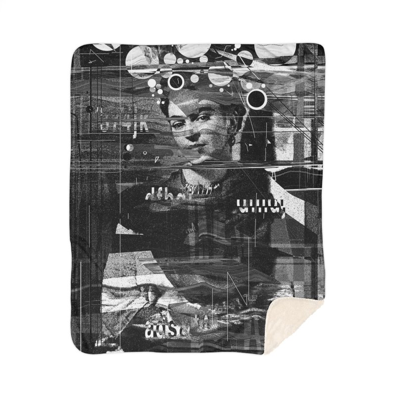 Frida Home Sherpa Blanket Blanket by nicebleed