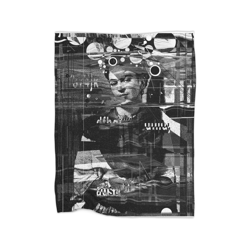 Frida Home Fleece Blanket Blanket by nicebleed