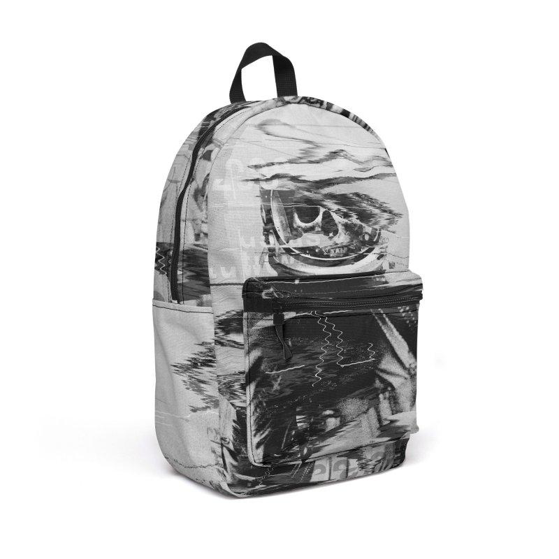 Astro Skull Accessories Backpack Bag by nicebleed