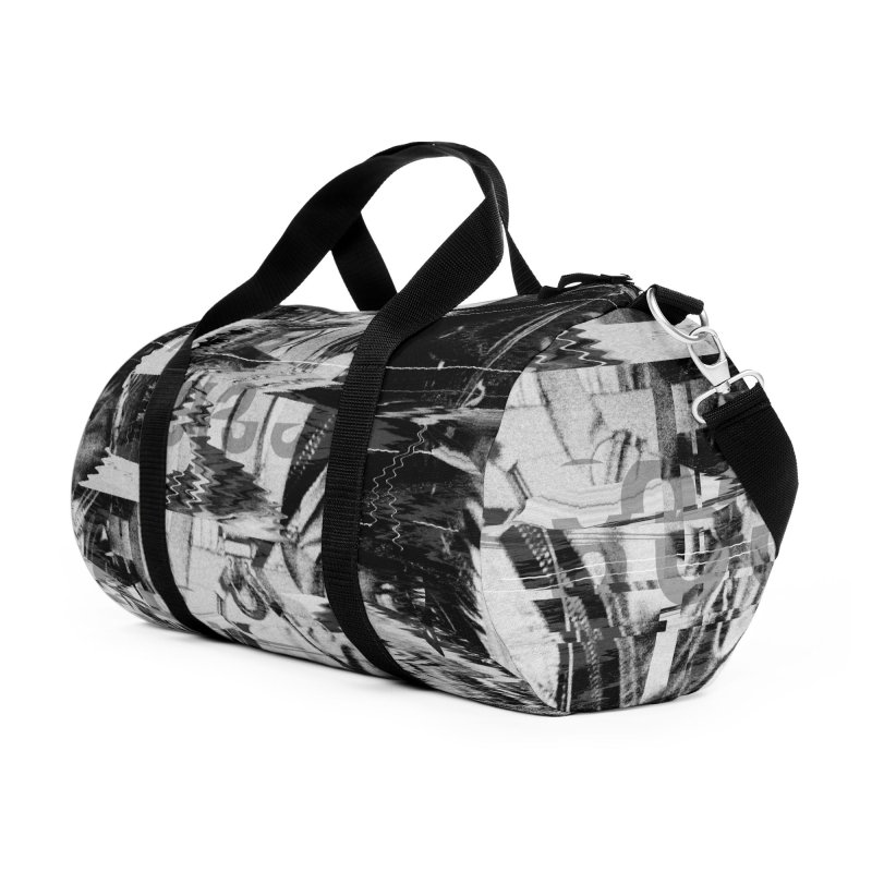 Astro Skull Accessories Duffel Bag Bag by nicebleed