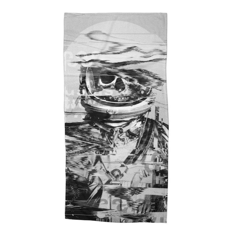 Astro Skull Accessories Beach Towel by nicebleed