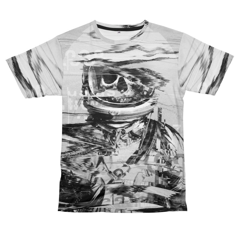 Astro Skull in Men's T-Shirt Cut & Sew by nicebleed