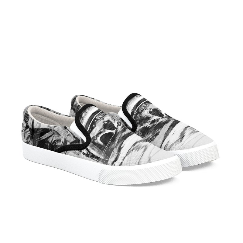 Astro Skull Women's Slip-On Shoes by nicebleed