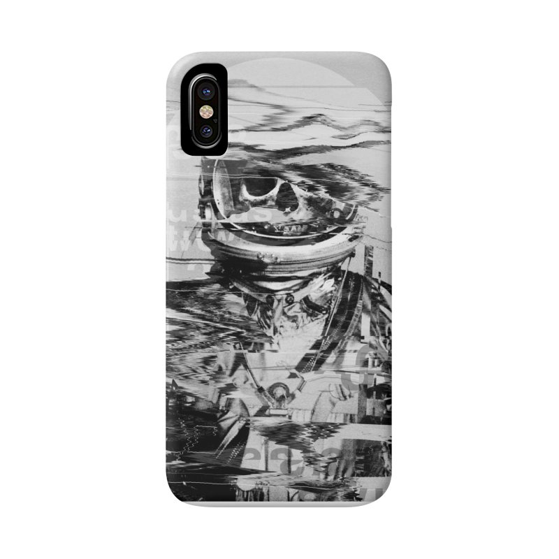 Astro Skull Accessories Phone Case by nicebleed