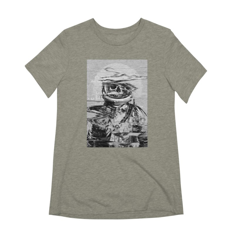 Astro Skull Women's Extra Soft T-Shirt by nicebleed