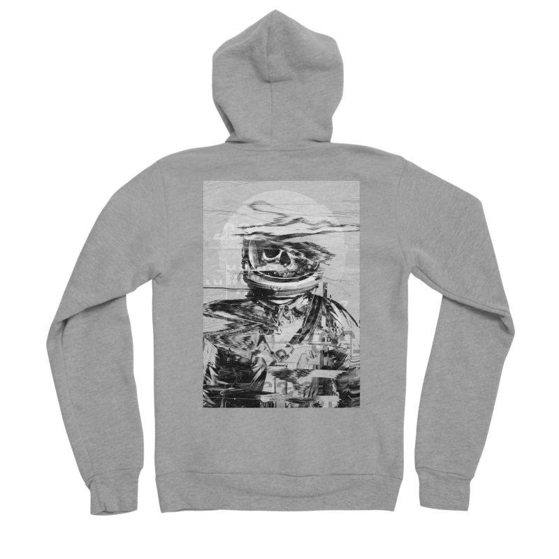 Astro Skull Men's Sponge Fleece Zip-Up Hoody by nicebleed