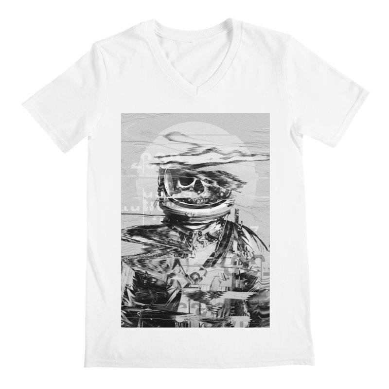 Astro Skull Men's Regular V-Neck by nicebleed