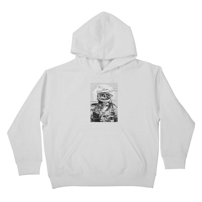 Astro Skull Kids Pullover Hoody by nicebleed