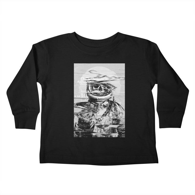 Astro Skull Kids Toddler Longsleeve T-Shirt by nicebleed