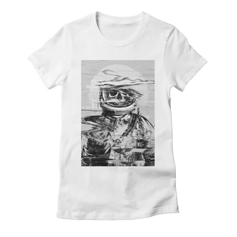 Astro Skull Women's Fitted T-Shirt by nicebleed