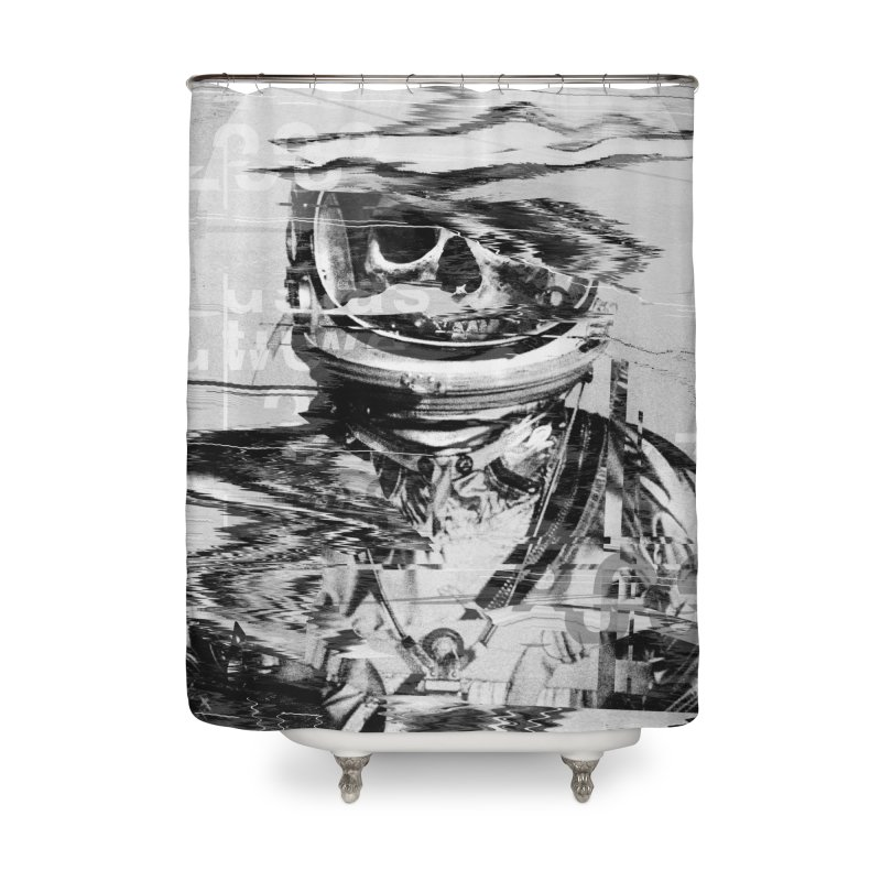 Astro Skull Home Shower Curtain by nicebleed
