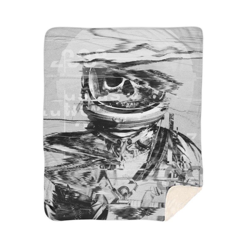 Astro Skull Home Sherpa Blanket Blanket by nicebleed