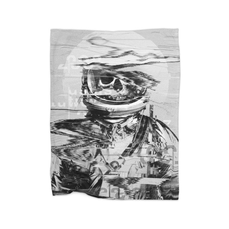 Astro Skull Home Fleece Blanket Blanket by nicebleed