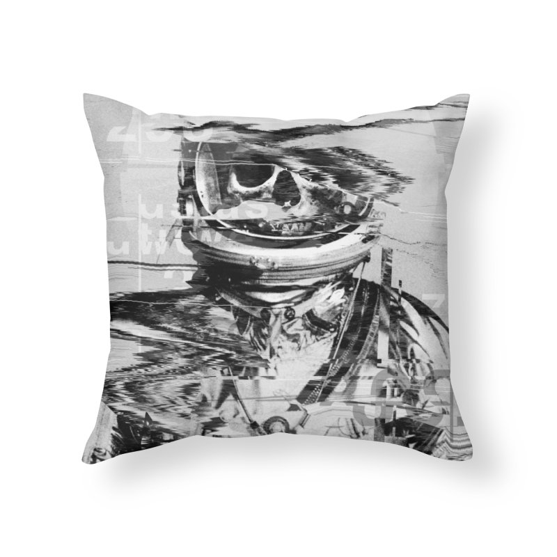 Astro Skull Home Throw Pillow by nicebleed