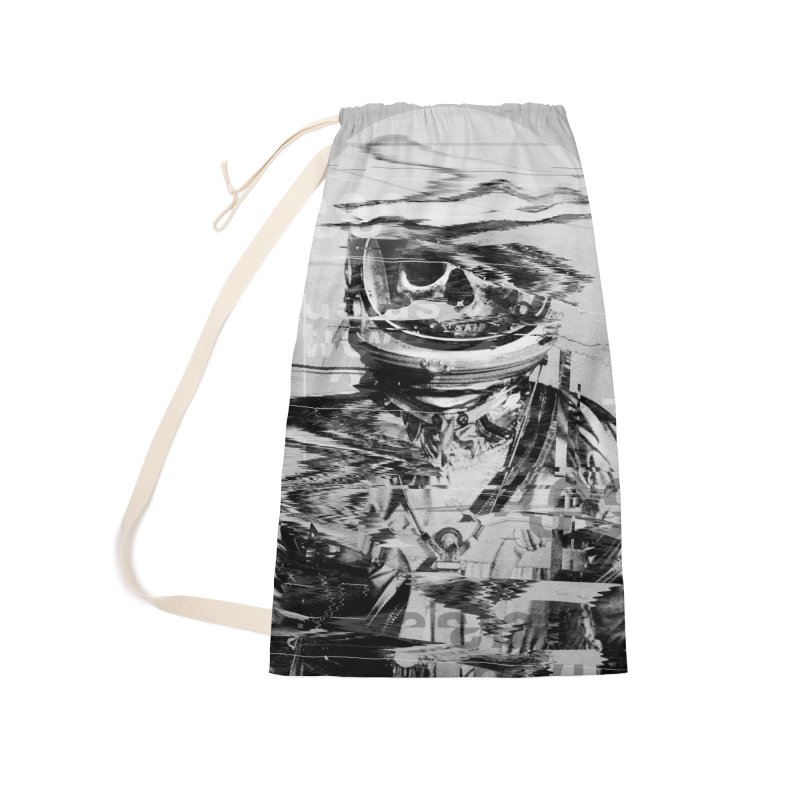 Astro Skull Accessories Laundry Bag Bag by nicebleed