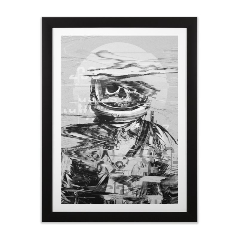 Astro Skull Home Framed Fine Art Print by nicebleed