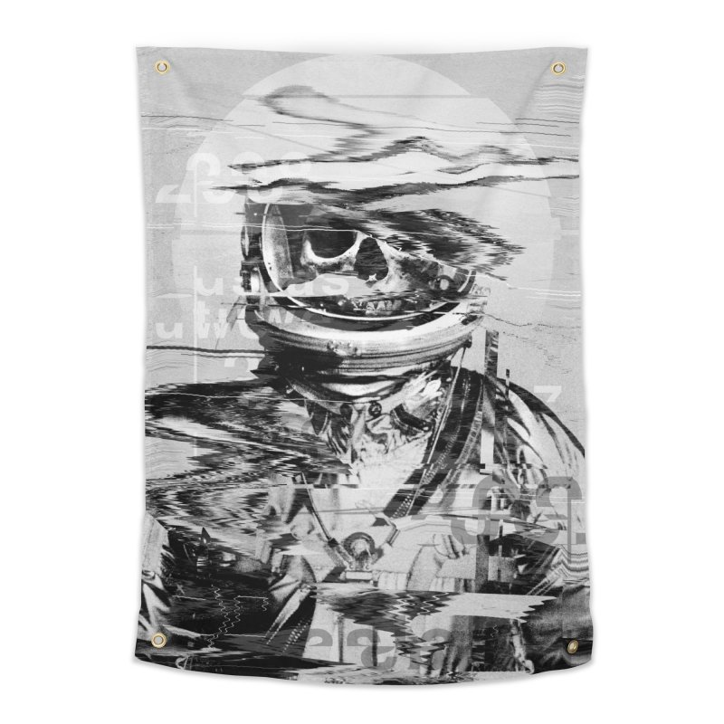 Astro Skull Home Tapestry by nicebleed