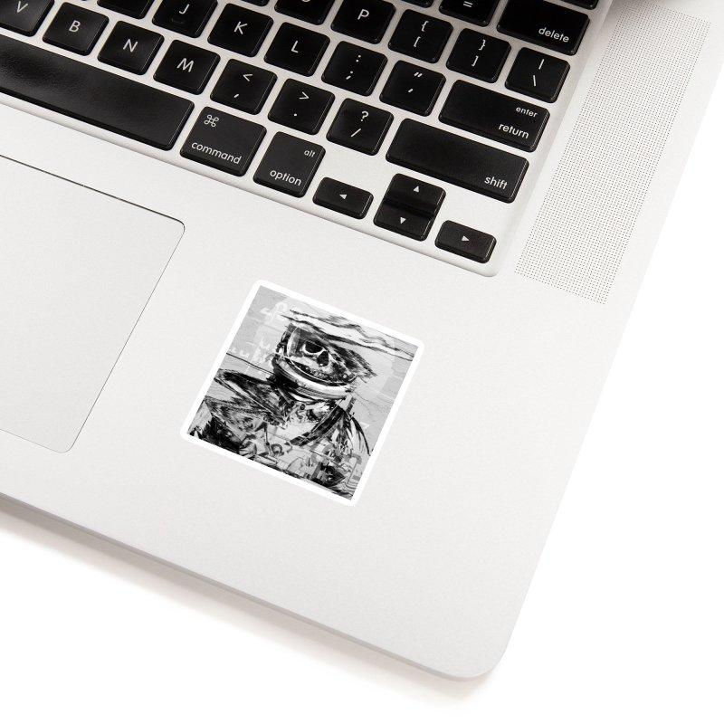 Astro Skull Accessories Sticker by nicebleed