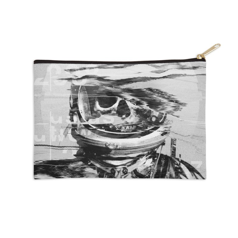 Astro Skull Accessories Zip Pouch by nicebleed