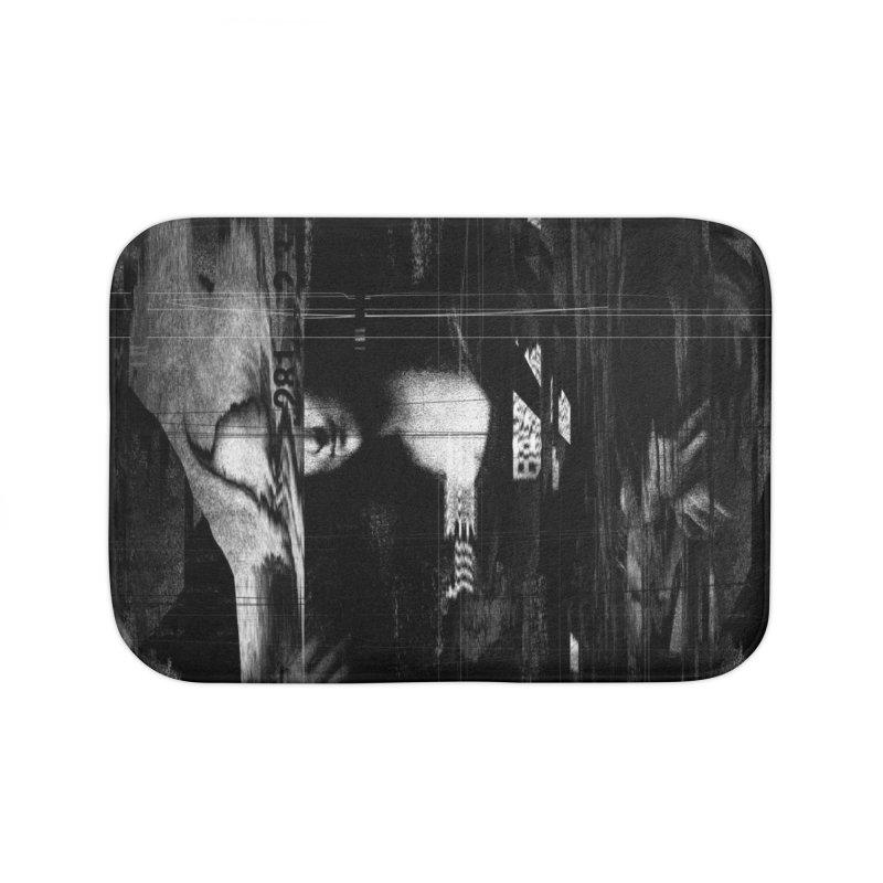 Mona Lisa Glitch Home Bath Mat by nicebleed
