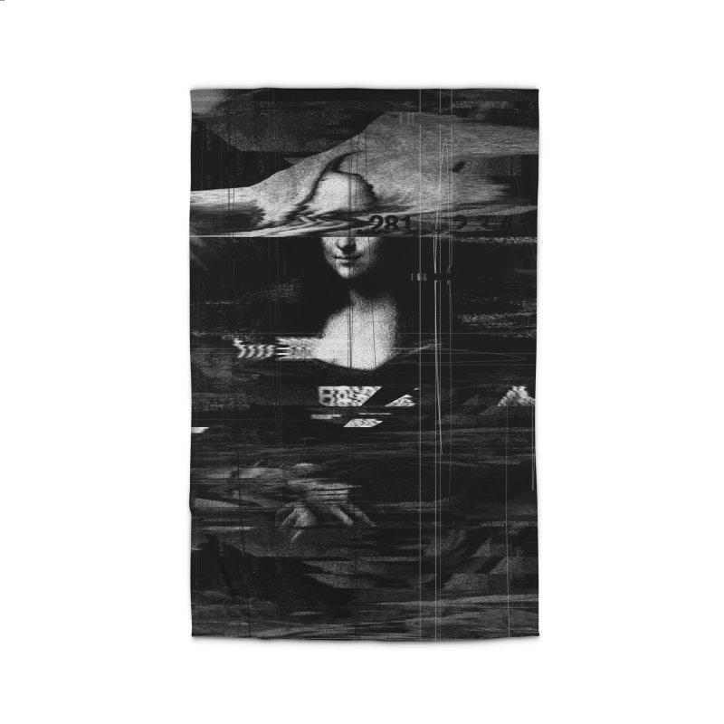 Mona Lisa Glitch Home Rug by nicebleed