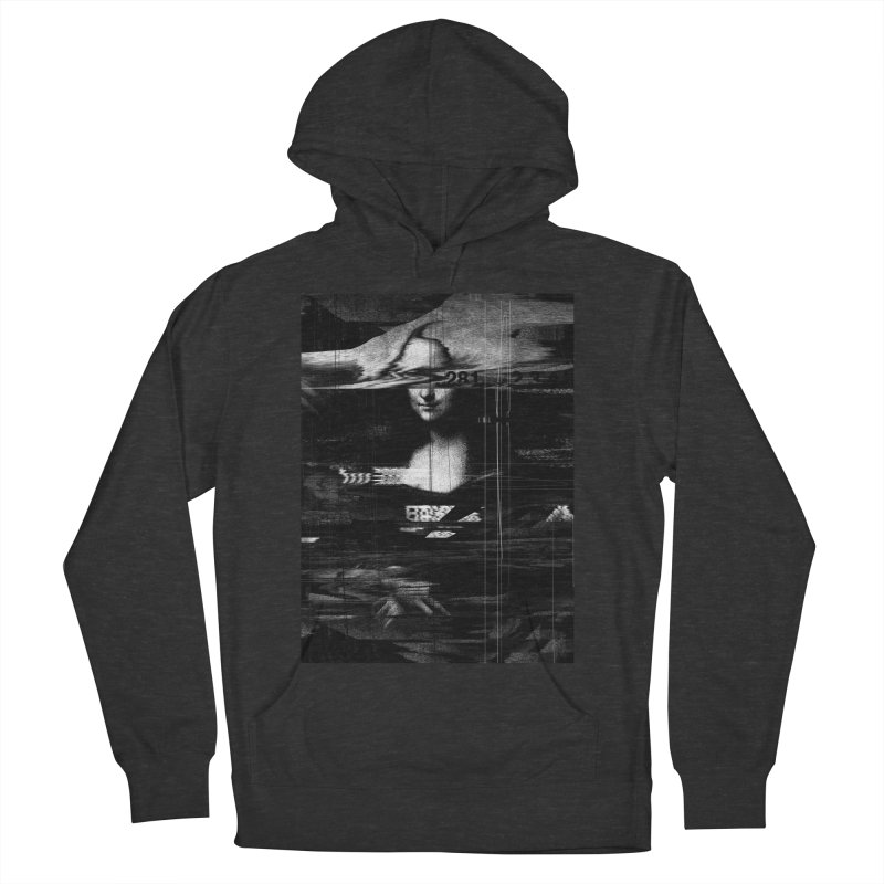 Mona Lisa Glitch Women's French Terry Pullover Hoody by nicebleed