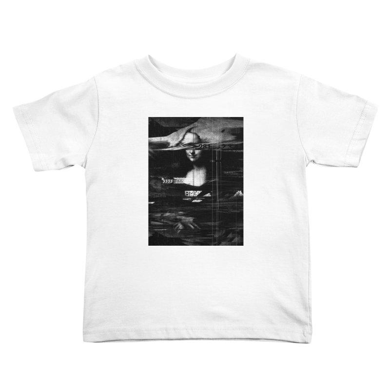 Mona Lisa Glitch Kids Toddler T-Shirt by nicebleed