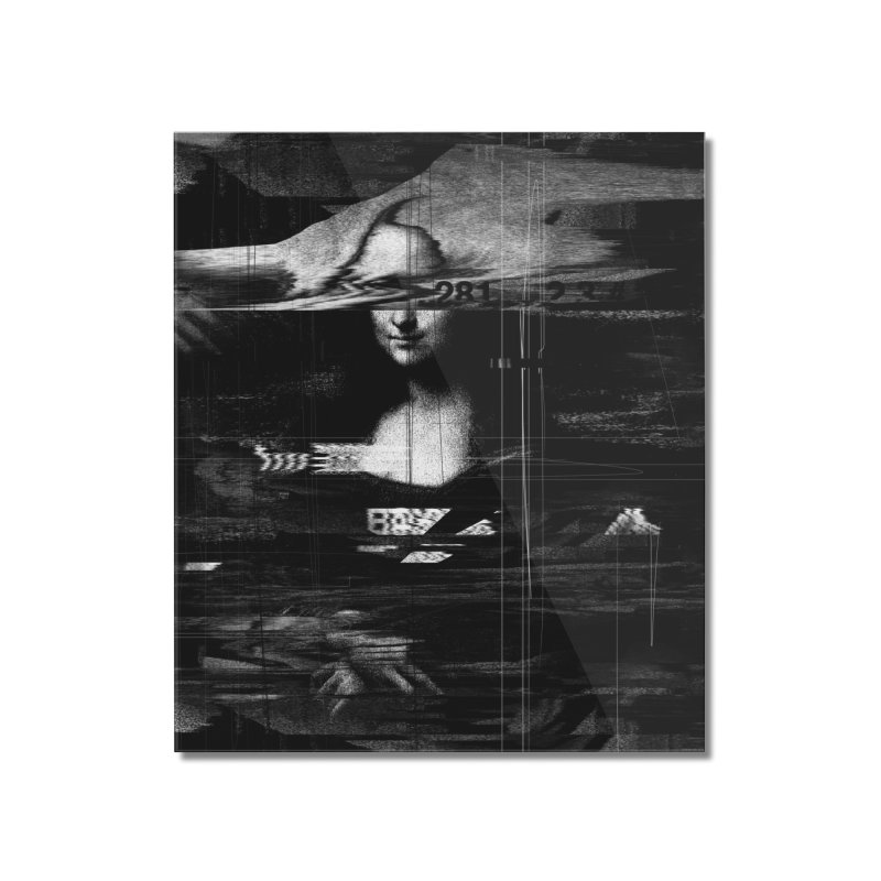 Mona Lisa Glitch Home Mounted Acrylic Print by nicebleed